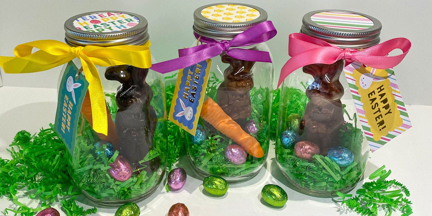 easter bunny mason jar craft