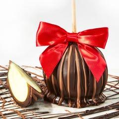 Dark Chocolate Dipped Caramel Apple