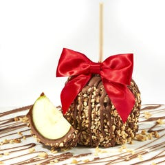 Milk Chocolate Caramel Dipped Apple with Nuts