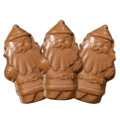 Milk Chocolate Peanut Butter filled Santa (3 Pack)