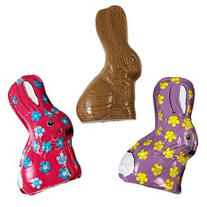 Milk Chocolate Foiled Mini Bunnies (3 Pack)