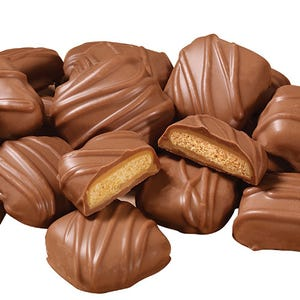 Milk Chocolate covered Peanut Butter Mini Cookies