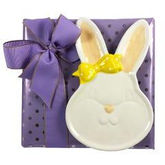 7oz. Milk & Dark Assorted Chocolate Box with Bunny Dish