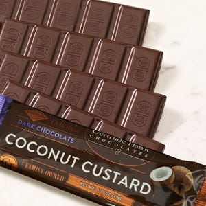 Dark Chocolate Coconut Custard Candy Bars - 5 Pack