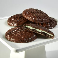 Giant Dark Chocolate covered Mint Cookies - 3 Pack