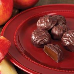 Dark Chocolate Apple Cider Caramels