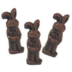 Dark Chocolate Flop Ear Bunny (3 Pack)