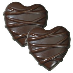 Dark Chocolate Chewy Coconut Heart - 5 Pack
