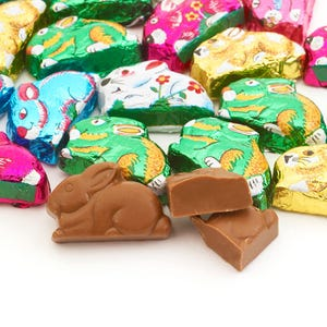 8oz. Milk Chocolate Foiled Bunnies