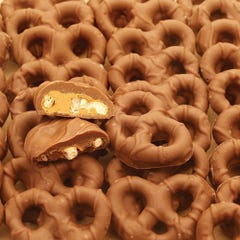 Milk Chocolate covered Peanut Butter Pretzels