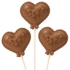 Milk Chocolate Valentine Heart Pop 3-pack