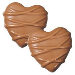 Milk Chocolate Vanilla Butter Cream Heart - 5 Pack