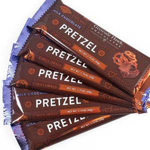 Milk Chocolate Pretzel Candy Bars - 5 Pack
