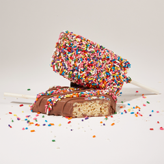 Milk Chocolate Covered Rice Krispie Treat with Sprinkles - 2 Pack