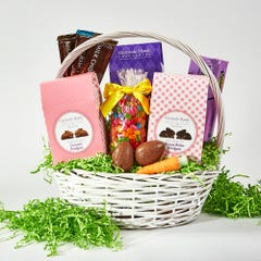 White Classic Easter Basket